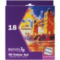Reeves Oil Paint, 12ml, 18/Pkg, Assorted Colors