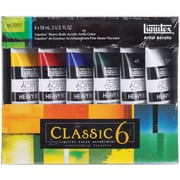 Reeves Liquitex Heavy Body Acrylic Paint, 2 Ounce/Tube, 6/Pkg, Classic 6
