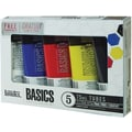 Reeves Liquitex Basics Acrylic Paint, 75ml/Tube 5/Pkg, Assorted Colors