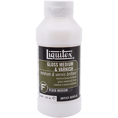Reeves Liquitex Gloss Fluid Acrylic Medium & Varnish, 8 Ounces