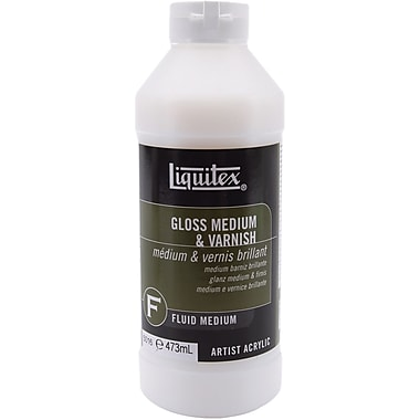Reeves Liquitex Gloss Fluid Acrylic Medium & Varnish, 16 Ounces