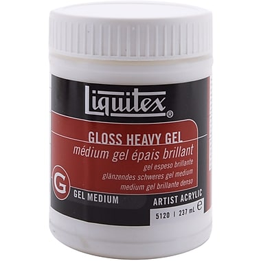 Reeves Liquitex Gloss Heavy Gel Acrylic Medium, 8 Ounces