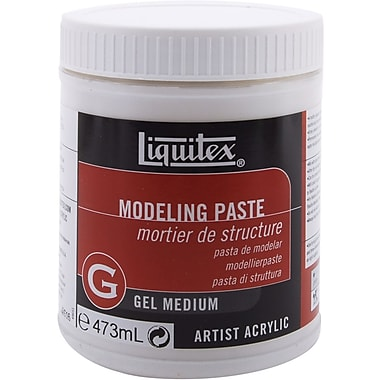 Reeves Liquitex Modeling Paste Gel Acrylic Medium, 16 Ounces