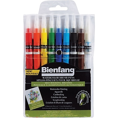 Speedball Art Products Bienfang Watercolor Brush Pen, 9/Pkg