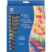 Loew-Cornell Watercolor Paint, 12ml, 24/Pkg, Assorted Colors
