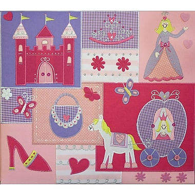 Amanda Blu Amanda Blue Embellished Fabric Album, 12in. x 12in., Princess Carriage