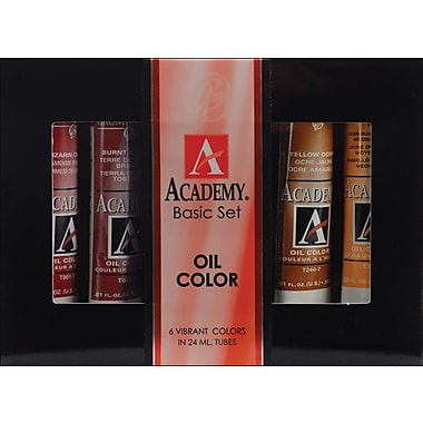 Chartpak Grumbacher Academy Oil Paint, 24ml, 6/Pkg, Basic Set