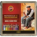 Chartpak Mondeluz Aquarell Watercolor Pencils, 24/Pkg
