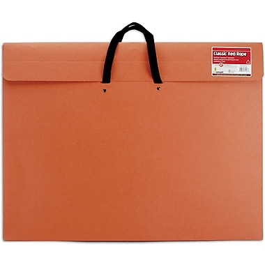 Star Products Red Rope Paper Portfolio, 20in. x 26in. x 2in.