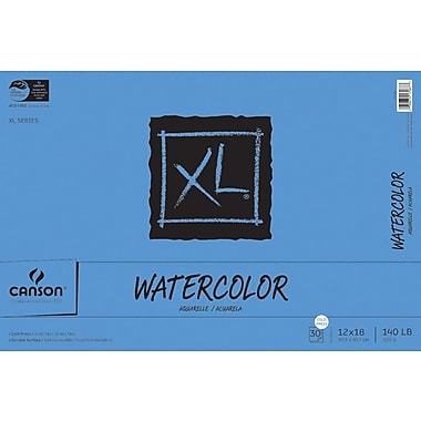 Canson XL Watercolor Paper Pad, 12in. x 18in.