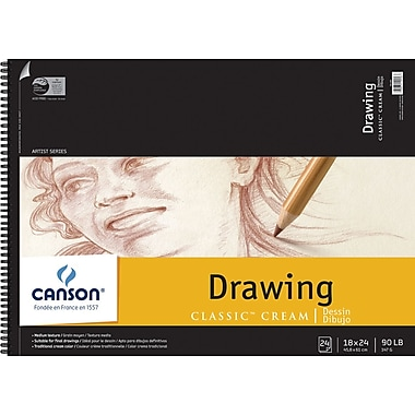Pro-Art Canson Classic Cream Drawing Paper Pad, 18in. x 24in.