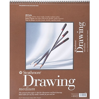 Strathmore Drawing Medium Paper Pad, 14in. x 17in.