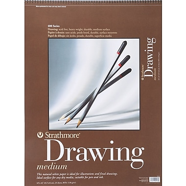 Pro-Art Strathmore Drawing Medium Paper Pad, 18in. x 24in.