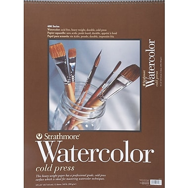 Strathmore Watercolor Cold Press Paper Pad, 18in. x 24in.