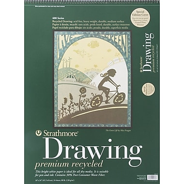 Pro-Art Strathmore Drawing Premium Recycled Paper Pad, 18in. x 24in.