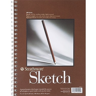 Pro-Art Strathmore Spiral Sketch Book, 9in. x 12in.