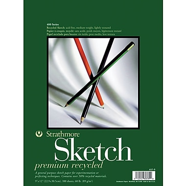 Pro-Art Strathmore Premium Recycled Sketch Book, 9in. x 12in.