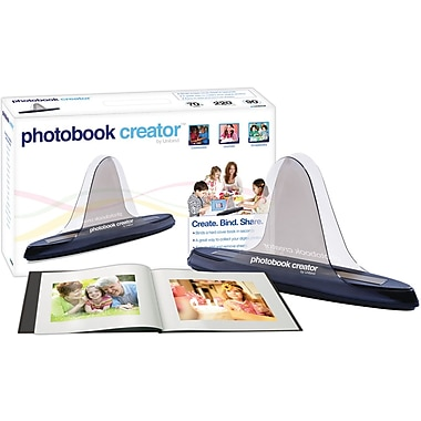 Unibind Photobook Creator Kit, CD, 8.5in. x 11in. Album, 20 Sheets of Paper