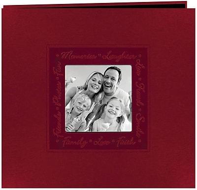 """""""""""Pioneer Embossed Script Frame Scrapbook, 12"""""""""""""""" x 12"""""""""""""""", Red"""""""""""" 942994"""