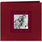 """Pioneer Embossed Script Frame Scrapbook, 12"""" x 12"""", Red"""