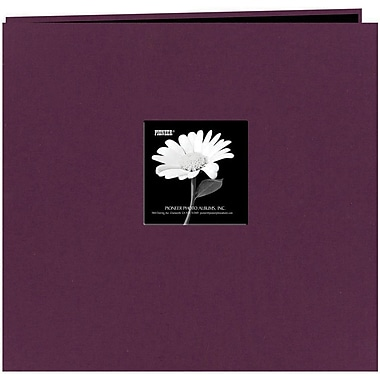 Pioneer Fabric Frame Scrapbook, 12in. x 12in., Wildberry Purple