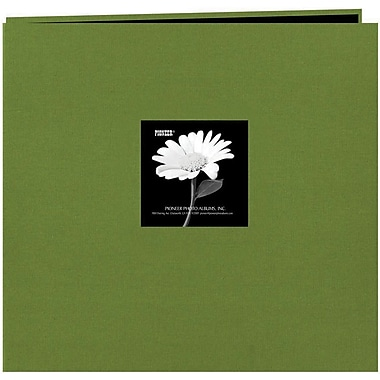 Pioneer Fabric Frame Scrapbook, 12in. x 12in., Herbal Green