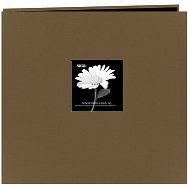 Pioneer Fabric Frame Scrapbook, 12in. x 12in., Warm Mocha