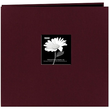 Pioneer Fabric Frame Scrapbook, 12in. x 12in., Sweet Plum