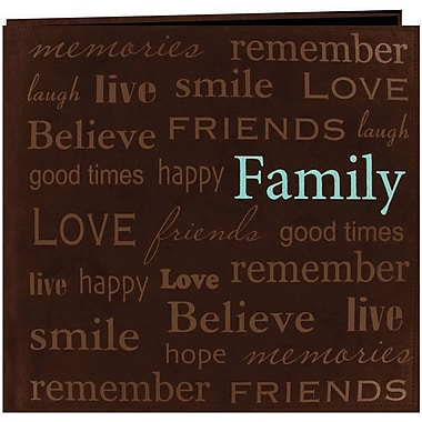 Pioneer Text Faux Suede Scrapbook, 12