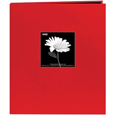 Pioneer Fabric Frame Scrapbook, 8.5in. x 11in., Red