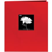 "Pioneer Fabric Frame Scrapbook, 8.5"" x 11"", Red"