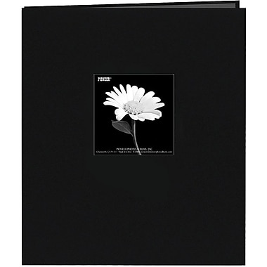 Pioneer Fabric Frame Scrapbook, 8.5in. x 11in., Black