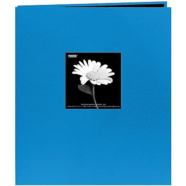 Pioneer Fabric Frame Scrapbook, 8.5in. x 11in., Sky Blue