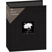 "Pioneer Fabric 3, Ring Binder Album With Window, 8.5"" x 11"", Black"