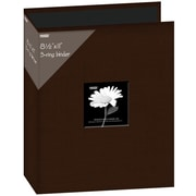 "Pioneer Fabric 3, Ring Binder Album With Window, 8.5"" x 11"", Brown"