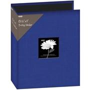 "Pioneer Fabric 3, Ring Binder Album With Window, 8.5"" x 11"", Blue"