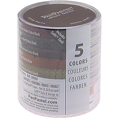 Armadillo Art & Craft PanPastel Ultra Soft Artist Pastel Set 9ml, 5/Pkg, Extra Dark Shades-Earthtone