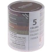 Armadillo Art & Craft PanPastel Ultra Soft Artist Pastel Set 9ml, 5/Pkg, Extra Dark Shades-Earthtone