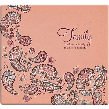 MBI Inspirations Paper Scrapbook, 12in. x 12in., Family Paisley-Peach
