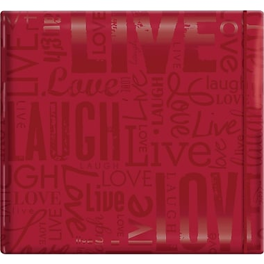 MBI Gloss Scrapbook, 12in. x 12in., Live Love Laugh-Red