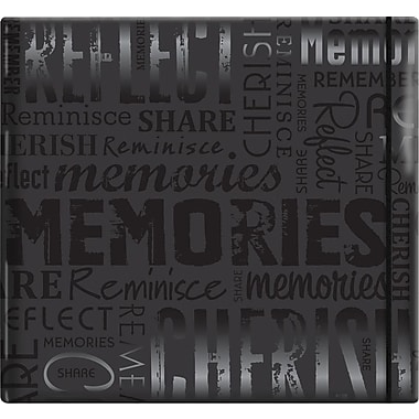MBI Gloss Scrapbook, 12in. x 12in., Memories-Black