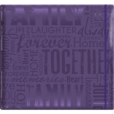 MBI Gloss Scrapbook, 12in. x 12in., Family-Purple