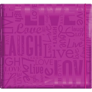 MBI Gloss Scrapbook, 12in. x 12in., Live Love Laugh-Bright Purple