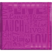 "MBI Gloss Scrapbook, 12"" x 12"", Live Love Laugh-Bright Purple"