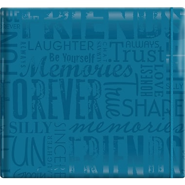 MBI Gloss Scrapbook, 12in. x 12in., Friends-Teal