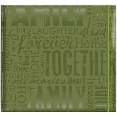 MBI Gloss Scrapbook, 12in. x 12in., Family-Green