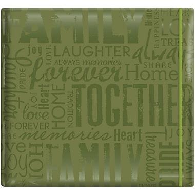 MBI Gloss Scrapbook, 12in. x 12in., Family-Green