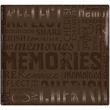 MBI Gloss Scrapbook, 12in. x 12in., Memories-Brown