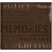 "MBI Gloss Scrapbook, 12"" x 12"", Memories-Brown"