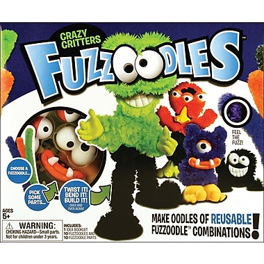 Poof-Slinky Fuzzoodles Kit Make oodles and oodles of Fuzzoodle combinations Crazy Critters